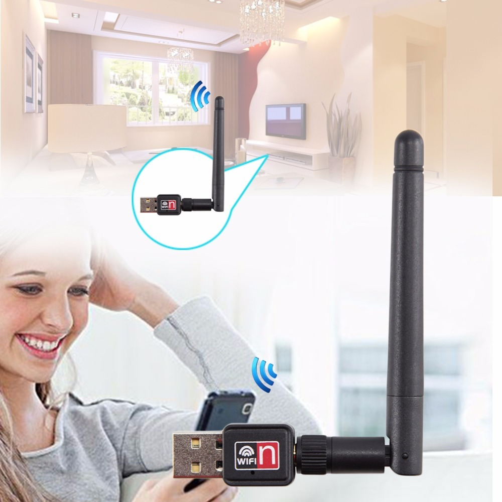 Hot Sale Mini PC USB Wifi Adapter 150M USB WiFi Antenna Wireless Computer Network Card 802.11n/g/b LAN+ Antenna Promotion
