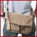 Frete grátis! nova moda chegada sacos do mensageiro ocasional dos homens zip lado dos homens da lona saco masculino saco tampa marca ferrolho saco de viagem dos homens sacos