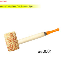 MUXIANG 6 Pcs/lot Corn Cob Tobacco Pipe Food Standard Plastic Mouthpiece Wooden Stem Different Types Smoking Pipe ae0001-ae0010