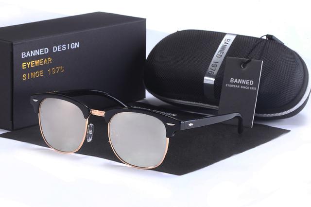 UV400 HD Polarized men women Sunglasses Classic fashion retro club Brand Sun glasses Coating Drive Shades gafas De Sol Masculino