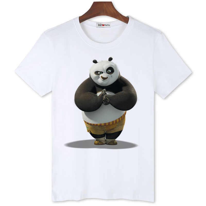 756c1d48e81a BGtomato kungfu Panda cool summer t shirt men originality playinig cartoon  shirt Brand good quality comfortable