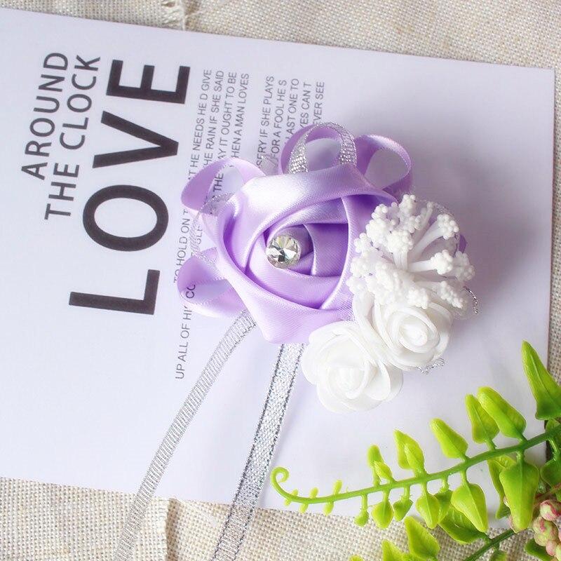 wrist corsage bracelet bridal wedding flowers Bridesmaid (102)