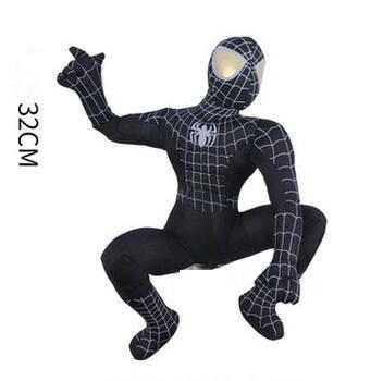 1pcs 32cm Avenger Alliance hero Amazing Black SpiderMan Creative Doll Gift Stuffed Plush Toy Dolls Children's Birthday Gifts kinderline international amazing spiderman 2 smbb ut1 9621