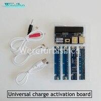 Wrcibo Mobiele telefoon universele batterij activering board quick lading PCB tool met usb-kabel voor iPhone voor Android telefoon