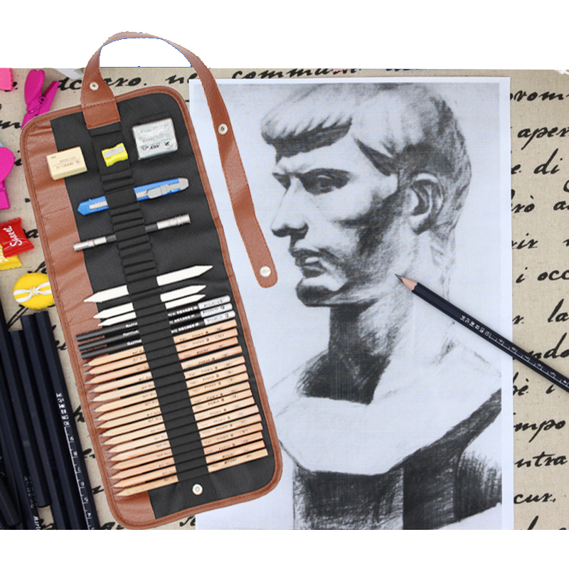 art supplies sketch suit Art painting Charcoal Pencil Earser Knife Drawing Pencil case Sketch Painting Canvas Pencil Set for Kidpencil setpencil set for kidspainting charcoal -