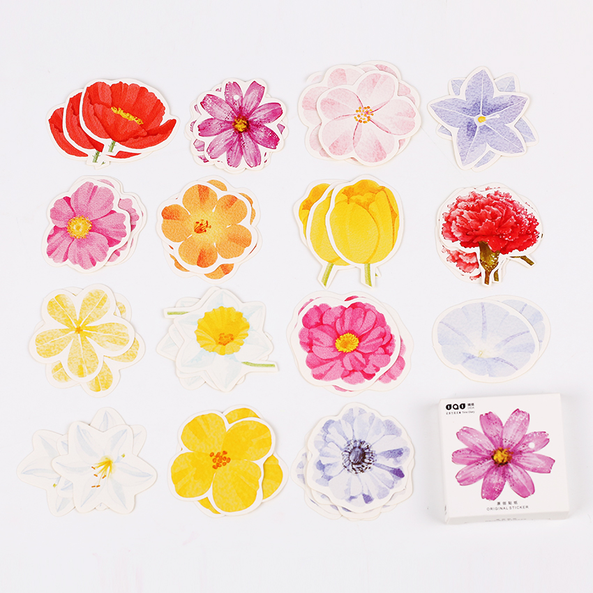 135PCS/3boxes Cute Kawaii Flower Girl Paper Stickers Flakes Vintage Romantic Love for Diary Decoration Diy Scrapbooking Sticker