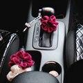 Ladycrystal Lovely Gear Stick Decoration Flowers Car-Styling Gear Shift Collars Handbrake Auto Interior Decor Accessories