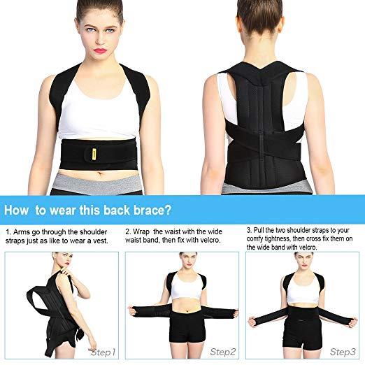 New Steel Back Support Posture Corrector Gentle Back Shoulder Support Prevention Of Humpback Health Care