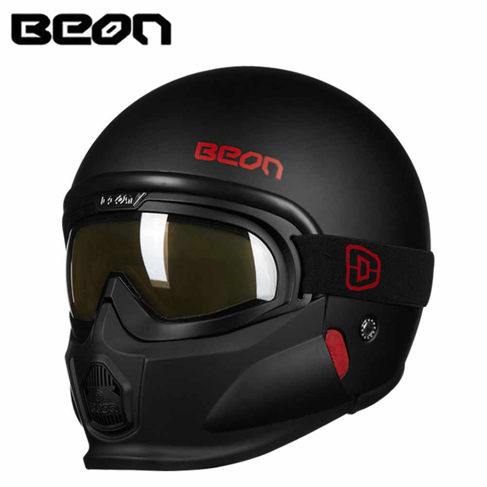 f84ce4237 Detail Feedback Questions about BEON Modular Motorcycle Helmet Retro  Chopper Cruiser Cascos Moto Casque Capacete Vintage Bike Helmets with  Goggles on ...