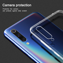 Clear Silicon Soft TPU Cases For Xiaomi Mi 9 SE 8 Lite 6 Transparent Cover Phone Case Redmi Note 7 5 Pro