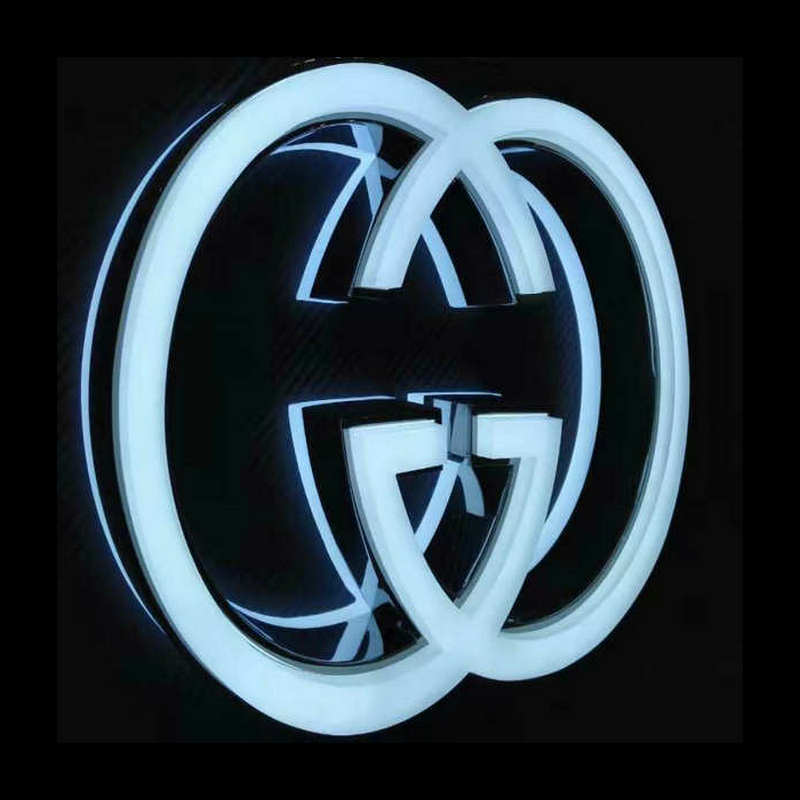 3D Custom acrylic led illuminated logo signage letter for company