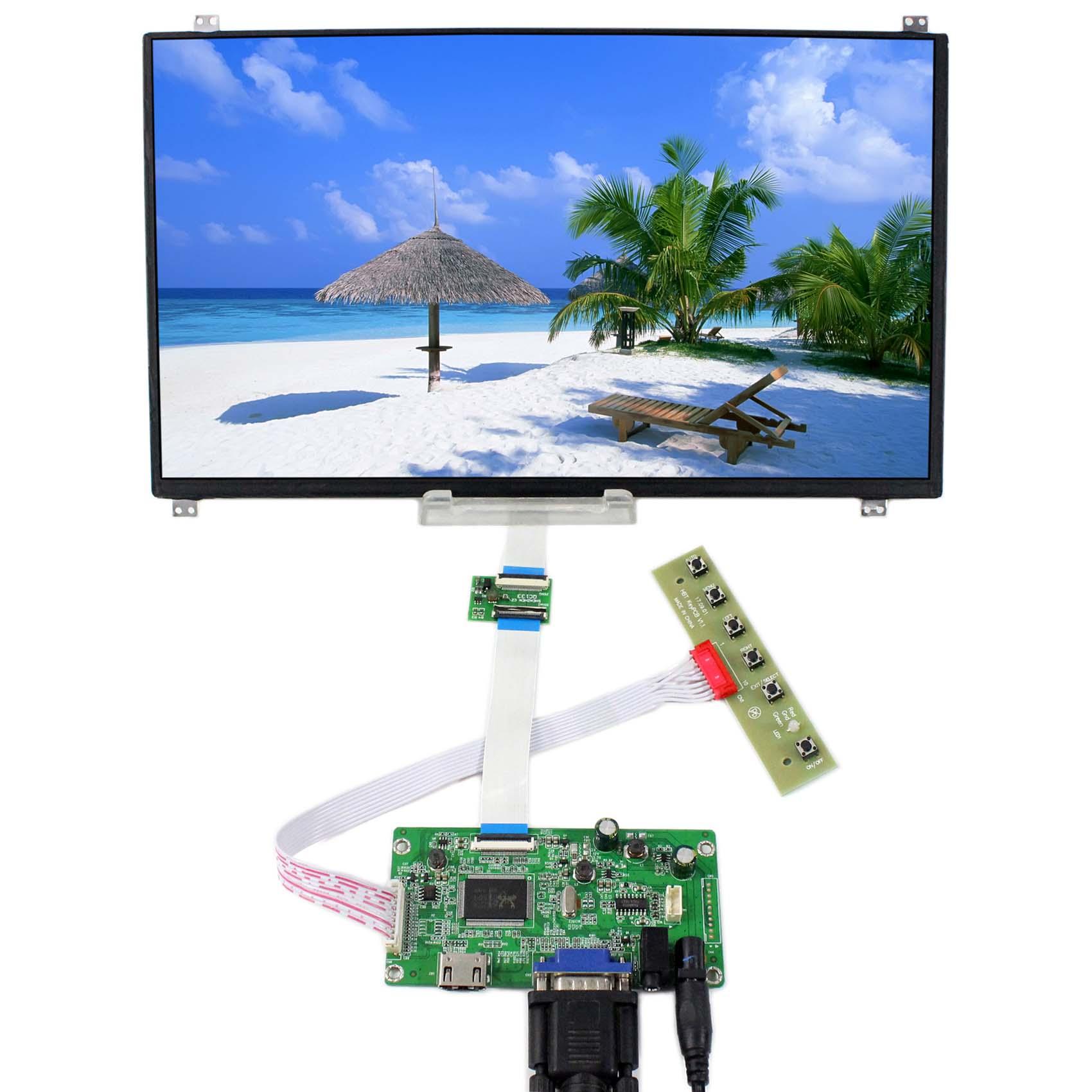 HDMI VGA Audio LCD Driver Board With 13.3inch 1920x1080 N133HSE-EB2 eDP IPS LCD Screen vga hdmi lcd controller board for lp156whu tpb1 lp156whu tpa1 lp156whu tpbh lp156whu tpd1 15 6 inch edp 30 pins 1 lane 1366x768