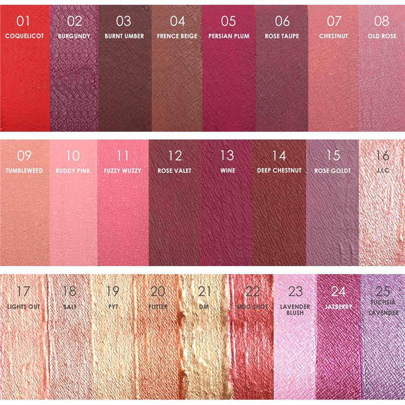 Focallure color lipstick matte lipstick painted liquid hot sexy weatherproof long water lip gloss kit 25pcs