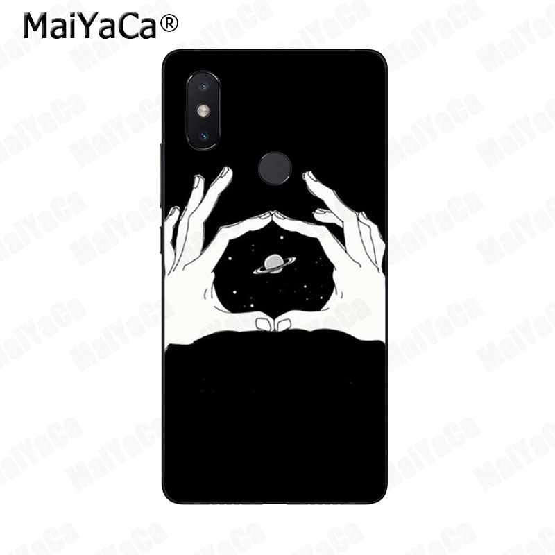 Maiyaca Funny Space Love Moon Astronaut Cat Soft Phone Case For Xiaomi Mi 6 Mix2 Mix2s Note3 8 8se Redmi 5 5plus Note4 4x Note5 Half-wrapped Case Cellphones & Telecommunications