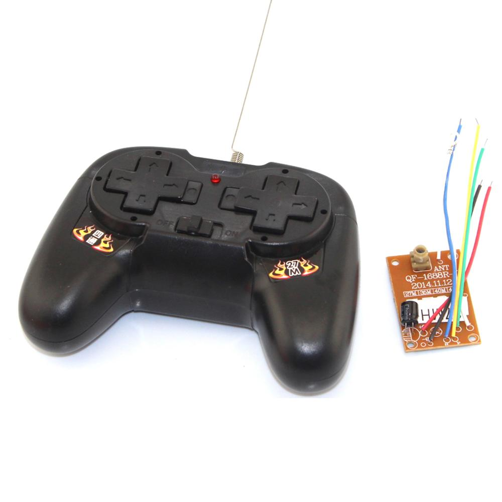 4CH 27mhz 10m Remote Transmitter & Receiver Board with Antenna For DIY RC Car Robot Remote Control Toy Parts image