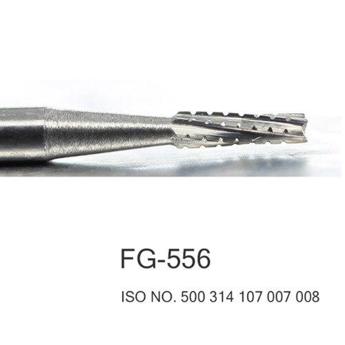 50pcs set Dental Tungsten carbide burs FG 556 FG 557 FG 558 FG 559 FG 560