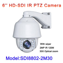 HD SDI 1080P PTZ HD-SDI camera 2MP 6.0 to 180mm lens 30x optical zoom outdoor waterproof Built-in wiper High Speed Dome Camera