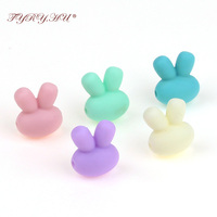 TYRY.HU 100pc Rabbit Silicone Beads Baby Teethers Accessories Bead For DIY Teething Necklace Nursing Silicone Beads Wholesale