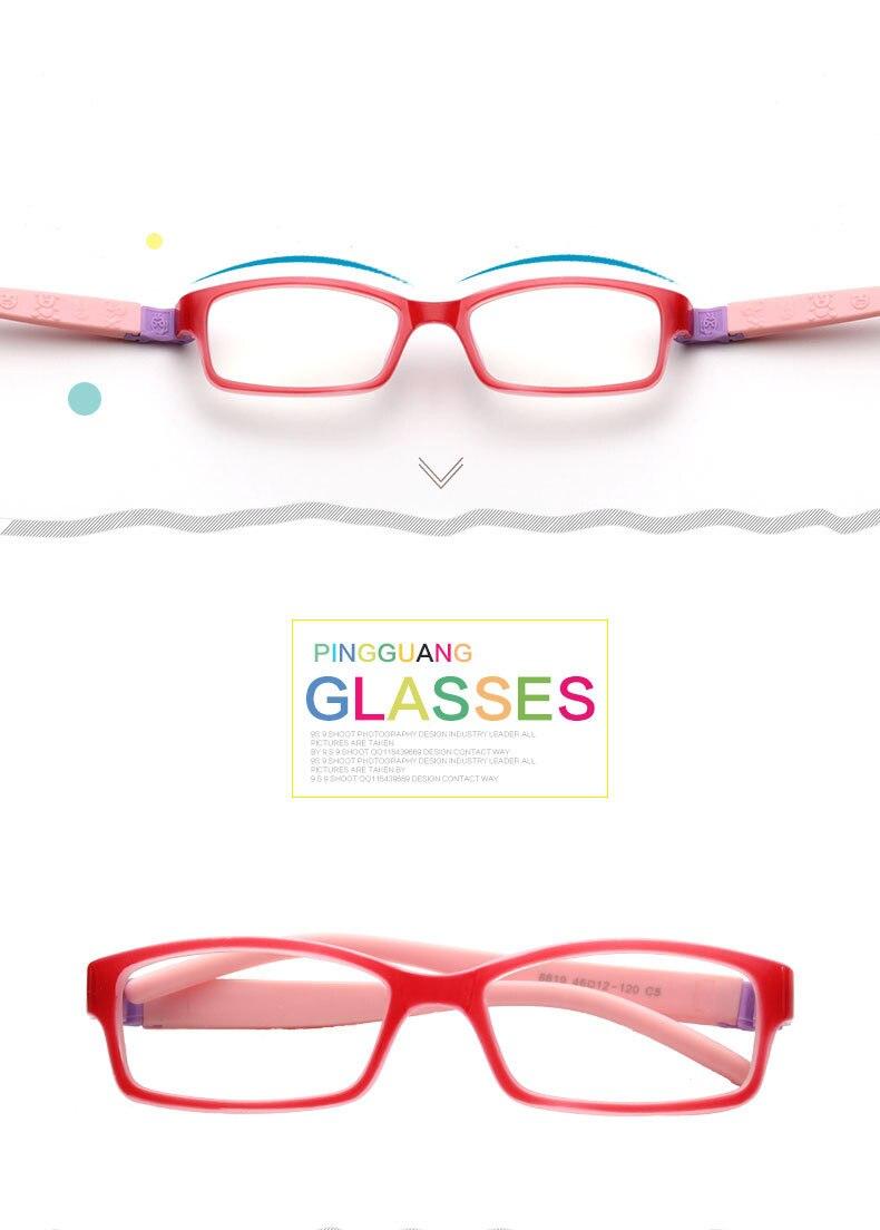 Unbreakable Flexible Frame Safe Optical Kids Eyeglasses-Glasses ...