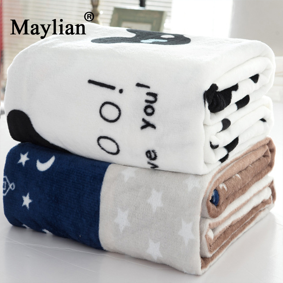 Home textile Square plaid Printed Geometric Chocolate Hand Wash a warm flannel Air conditioning nap sofa blanket on the bed T19