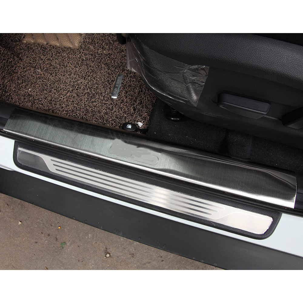 Stainless Steel door sill scuff plate welcome pedal For Hyundai Creta ix25 2014 2015 2016 Car Styling Accessories waterproof acrylic moving led welcome pedal car scuff plate pedal door sill pathway light for hyundai i30 2013 2014