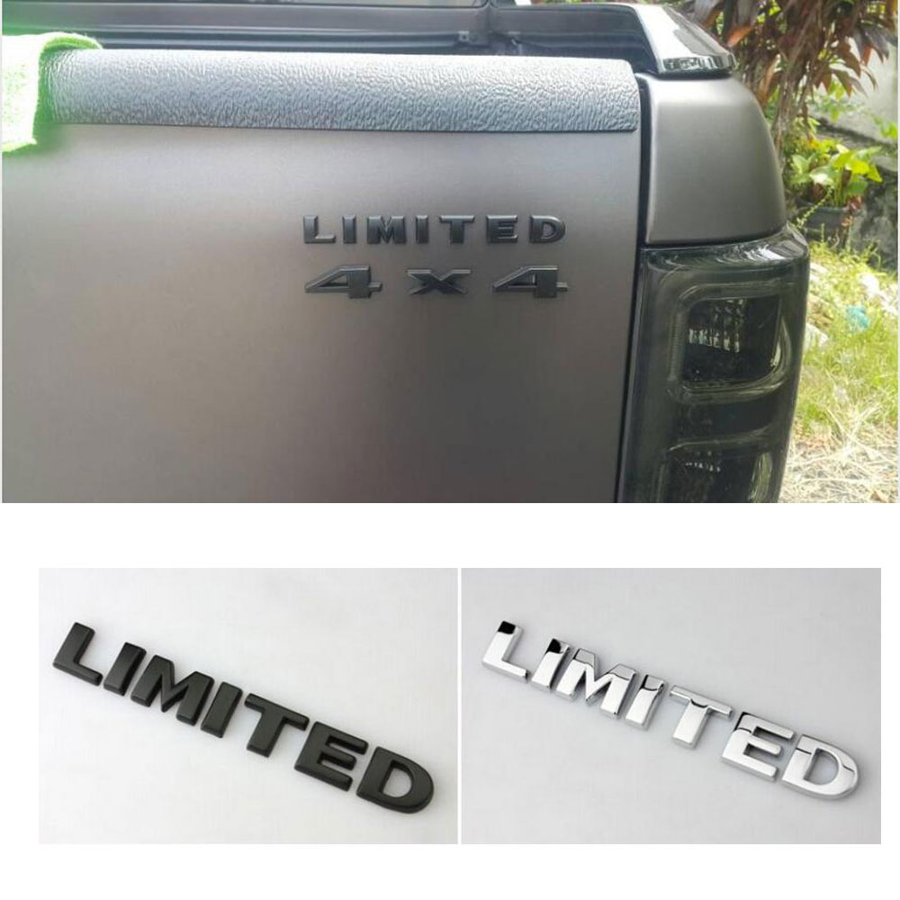 3D Limited Metal Tail Emblem For Ford F150 F350 Duty For Jeep Renegade Wrangler Cherokee Compass Grand