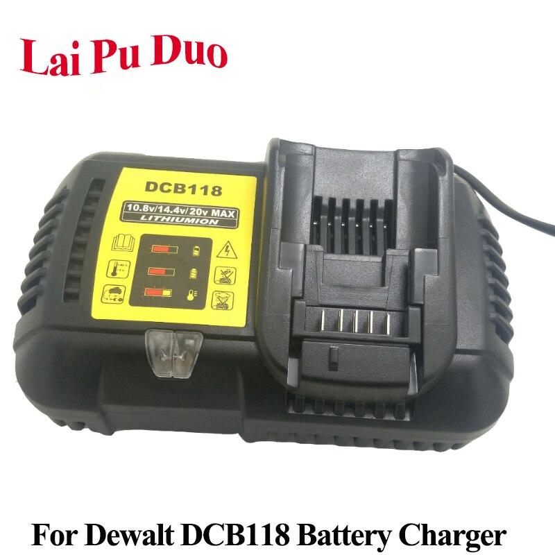 DCB118 For Dewalt 10.8V 12V 14.4V 18V Li ion Battery Charger for DCB101 DCB115 DCB107 DCB105 DCB140 DCB200 DCB206 DCB201 DCB120|Chargers| |  - title=