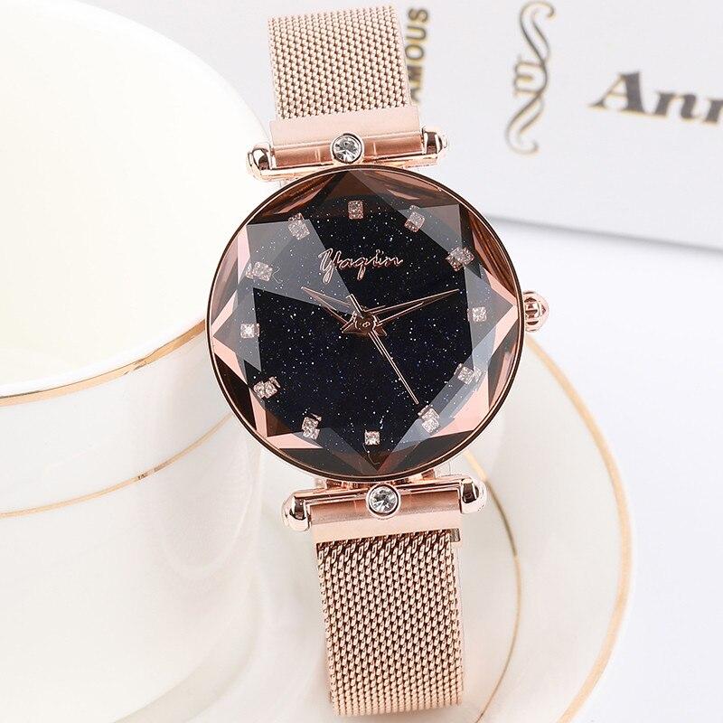 2018 Top marque de luxe dame cristal montre femmes robe montre de mode Rose or Quartz montres femmes en acier inoxydable montres