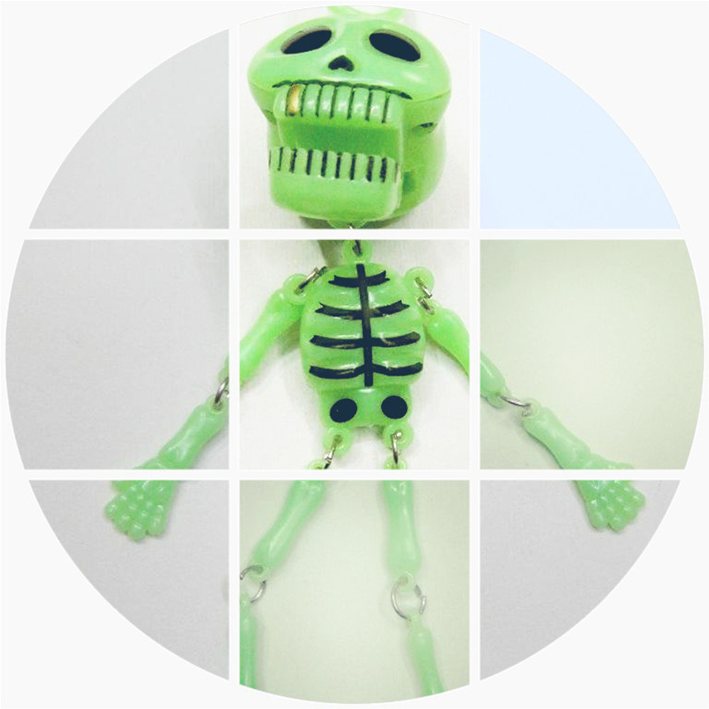 Hot Sale Novelty Toy Glow In The Dark Moving Poseable Skeleton Halloween Party Decor Toys Skeleton Plastic Toy
