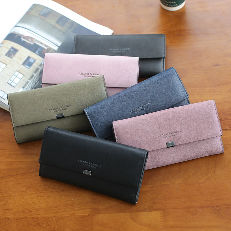 High Quality Women Long Wallets Letter Standard Hasp Money Purse Fashion Style Card Holder Synthetic Leather Clutch Bag Female 6
