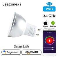 Ampoule ampoule LED wi-fi bombilla inteligente alexa 6W GU10 lampe de vie intelligente lampara GU 10 3000K 6000K livraison directe jeazonexi