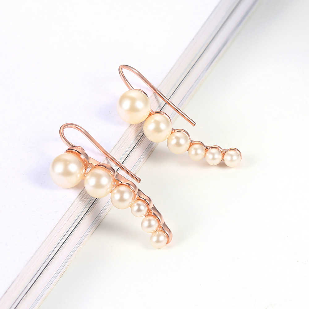 Top Quality Lady Style Imitation Pearl Rose Gold Color Earrings Fasshio Jewelry ZYE504 ZYE499