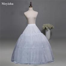 Лидер продаж 3 Обручи кость линия невесты юбка СВАДЕБНЫЙ ЮБКА SLIP кринолин