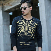 TBAIYE 2017 Newest Autumn Winter Design Top Fashion Men Shirt Men S Casual Slim Stretch Tops