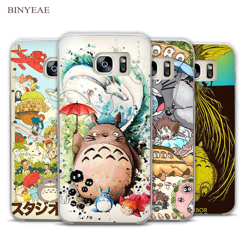 BINYEAE Studio Ghibli Ghiblies totoro Transparent Phone Case Cover for Samsung Galaxy S3 S4 S5 S6 S7 Edge Plus Mini