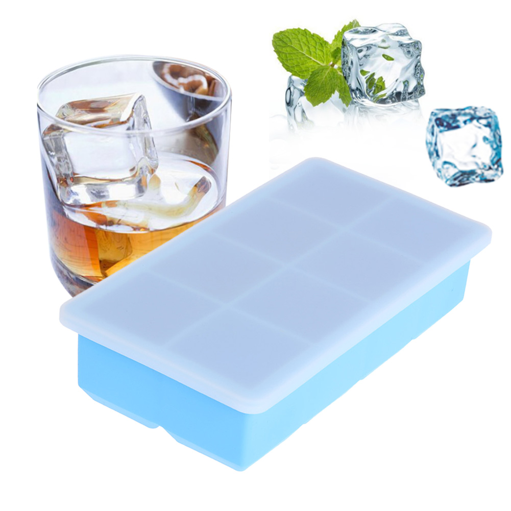 Creative Froze Silicone Ice Cube Tray Ice Maker Mold With Cover Ice Cube Mold Kitchen Tools