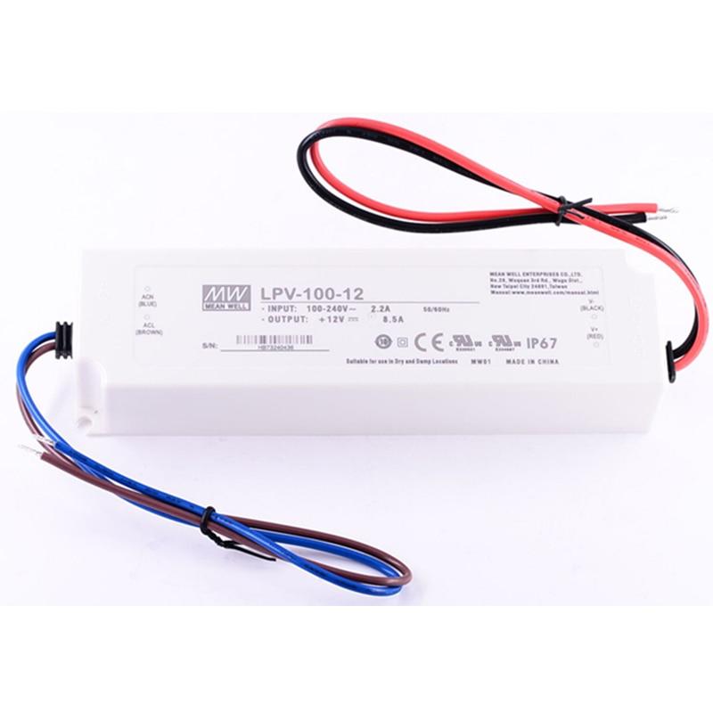 цена на UL IP67 20W 35W 60W 100W 150W MeanWell Led Driver Adapter AC100-350V DC 12V 24V Waterproof Dimming Power Supply Transformer