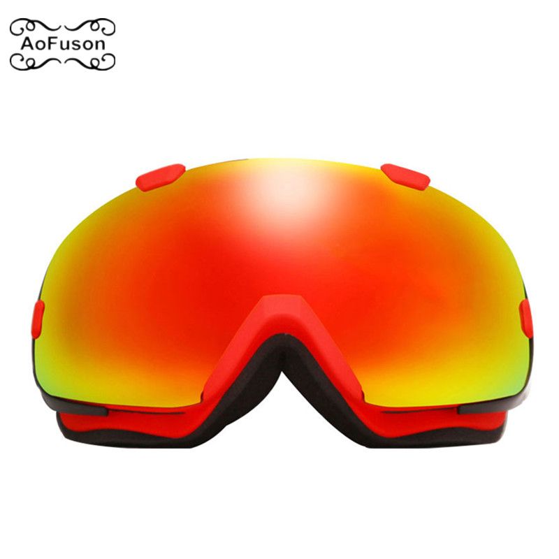 Snowboard Ski Goggles Double Layers Anti-fog Lens Big Vision Photochromic UV400 Mask Winter Snow Snowmobile Skiing Eyewear Gafas