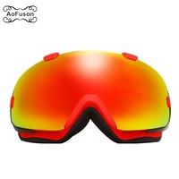 Snowboard Ski Goggles Double Layers Anti fog Lens Big Vision Photochromic UV400 Mask Winter Snow Snowmobile Skiing Eyewear Gafas