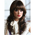 New Arrival Long Wavy Hairstyle Capless Synthetic Hair Wigs With Full Bangs