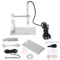 DU 500X 8LED Camera Stand Microscopy 2MP Digital Microscope USB Microscope Otoscope PCB Inspection Camera Endoscope