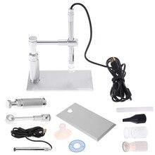 Cheaper 2MP USB Digital Microscope 500X 8LED Digital Image Monarch Processor PCB Inspection Camera Endoscope Loupe Webcam
