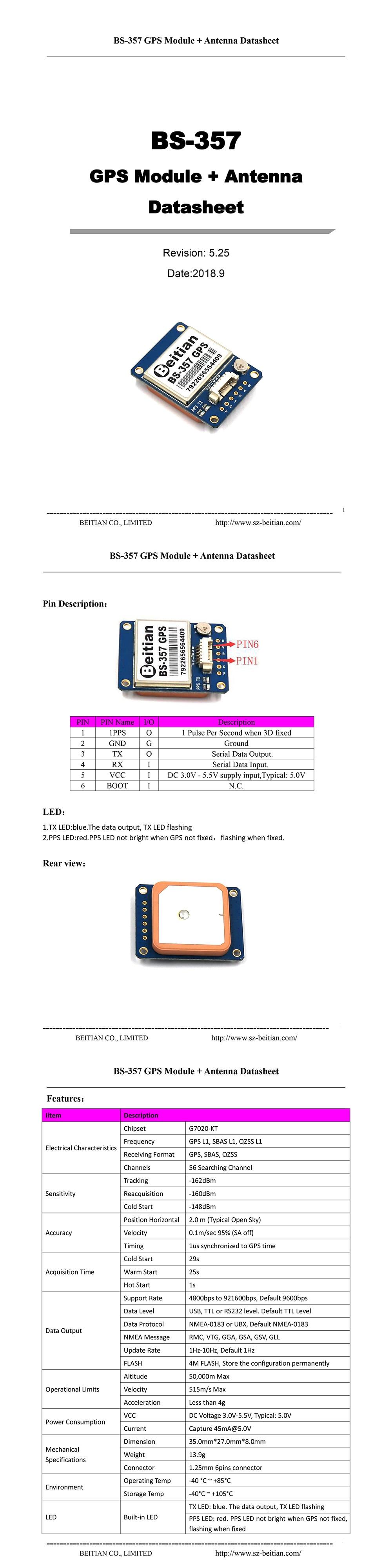 Novo módulo de gps ttl nível 9600bps