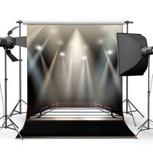 ボクシングリング背景ボクシング背景インテリアスタジアムステージライトダークアスレチックスポーツ体育館背景