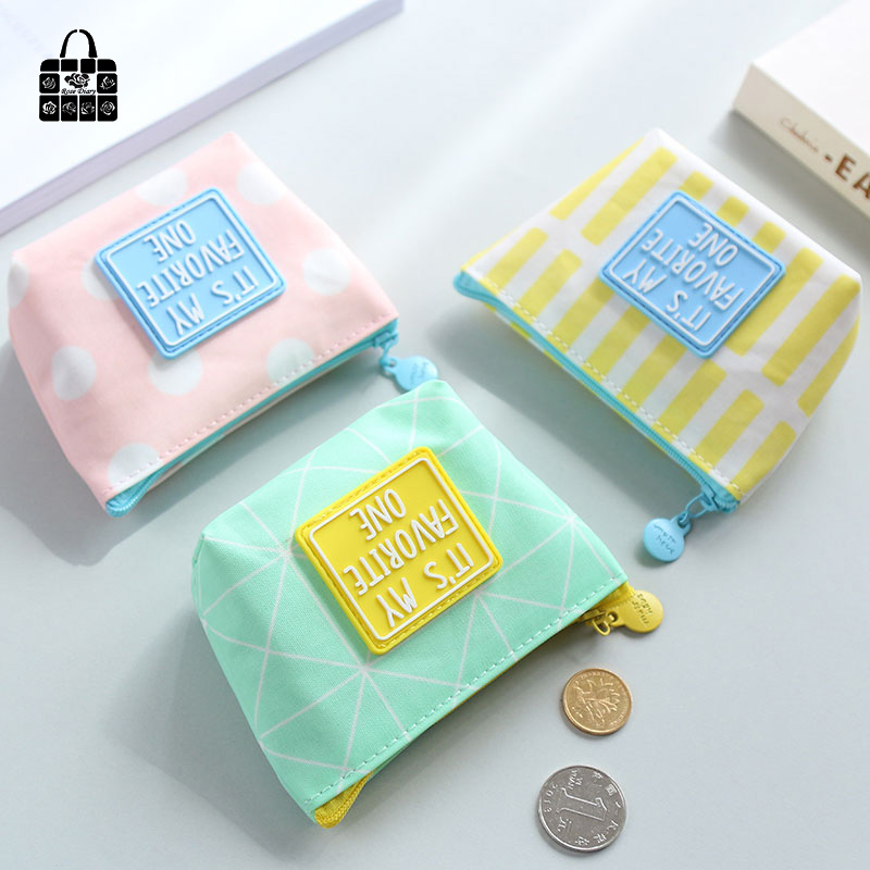 ROSEDIARY lovely Small fresh simple Waterproof cloth zero wallet childen girl boy purse, lady coin bags wallets Pouch Case