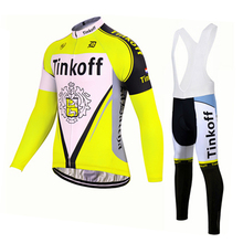 2017 New Fluo Yellow Tinkoff Saxo Bank Long Sleeve Cycling Jersey/ Autumn Winter Bike Clothes Bicycle Wear Ropa Ciclismo Hombre одежда для велоспорта team edition 2015 tink off saxo bank