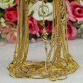 Wholesale! 10pcs/lot Fashion Gold Plated 1.2mm Snake Chain Necklace For Women or Men 16 inch,18 inch,20 inch,24 inch,Pick Size