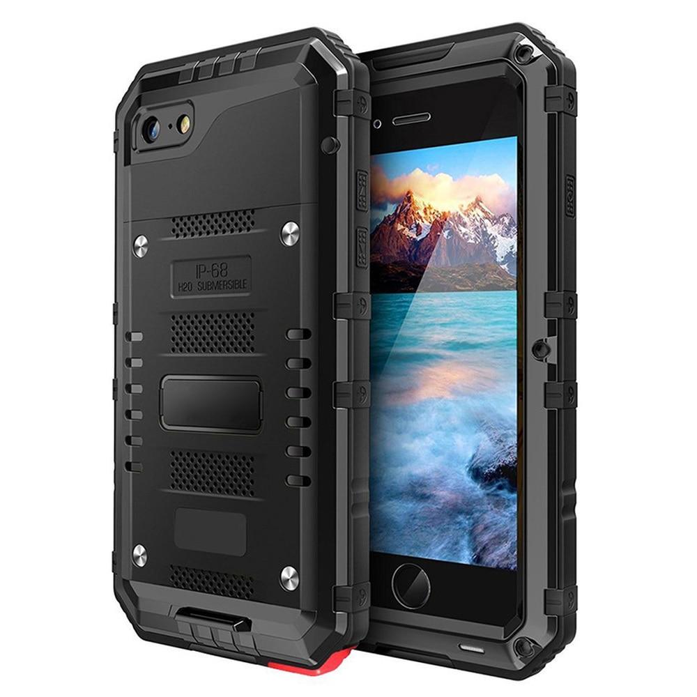 abf35d5c727 Impermeable IP68 a prueba de golpes Heavy Duty híbrido resistente armadura  de Metal funda de teléfono para iPhone 7 8 6 6 s Plus X 5 5S SE funda en  Casos ...