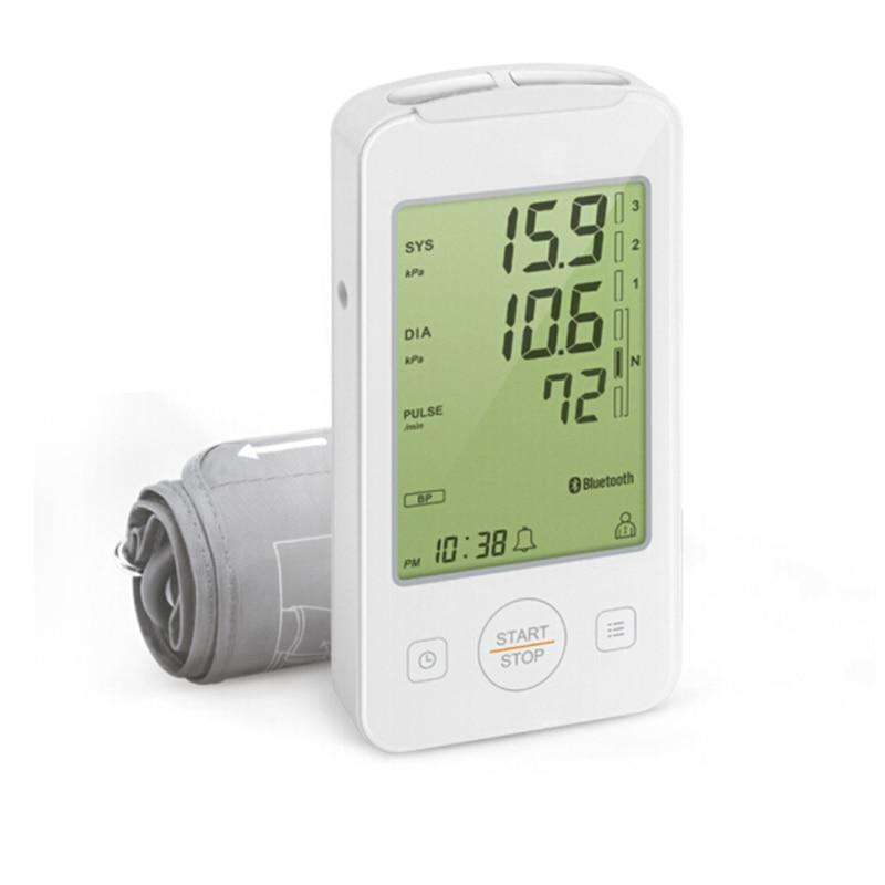Moniteur numérique de pression artérielle de bras d'affichage à cristaux liquides de soins de santé à la maison avec la Machine de moniteur d'ecg pour mesurer l'enregistrement automatique d'app de traçage d'ekg-in Pression Du Sang from Beauté & Santé    3
