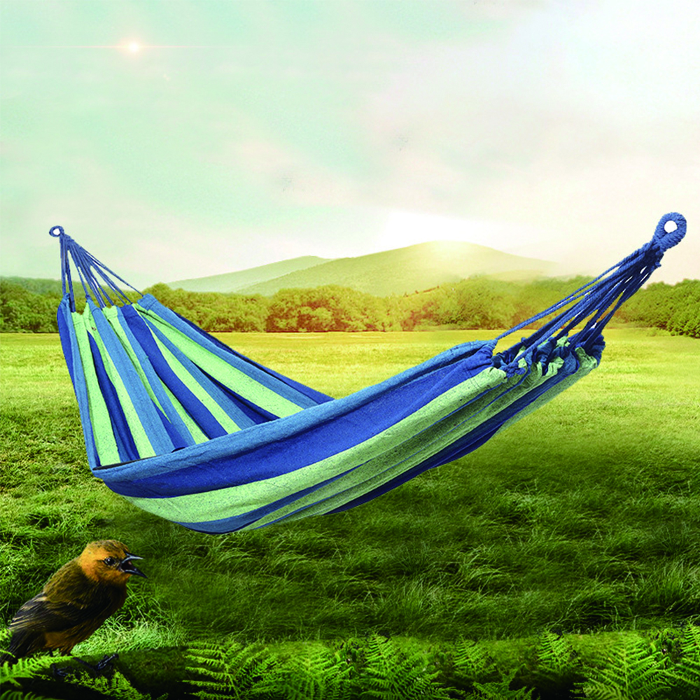 Responsible Zhst Rainbow Outdoor Leisure Canvas Hammocks Ultralight Camping Hammock With Backpack 190* 80 190*100 190*150 Customizable Size Furniture Outdoor Furniture